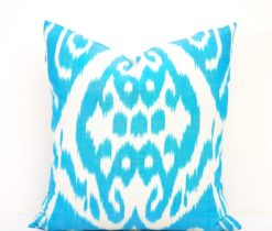 Turquoise blue pillow