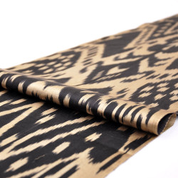 Black gold fabric ikat