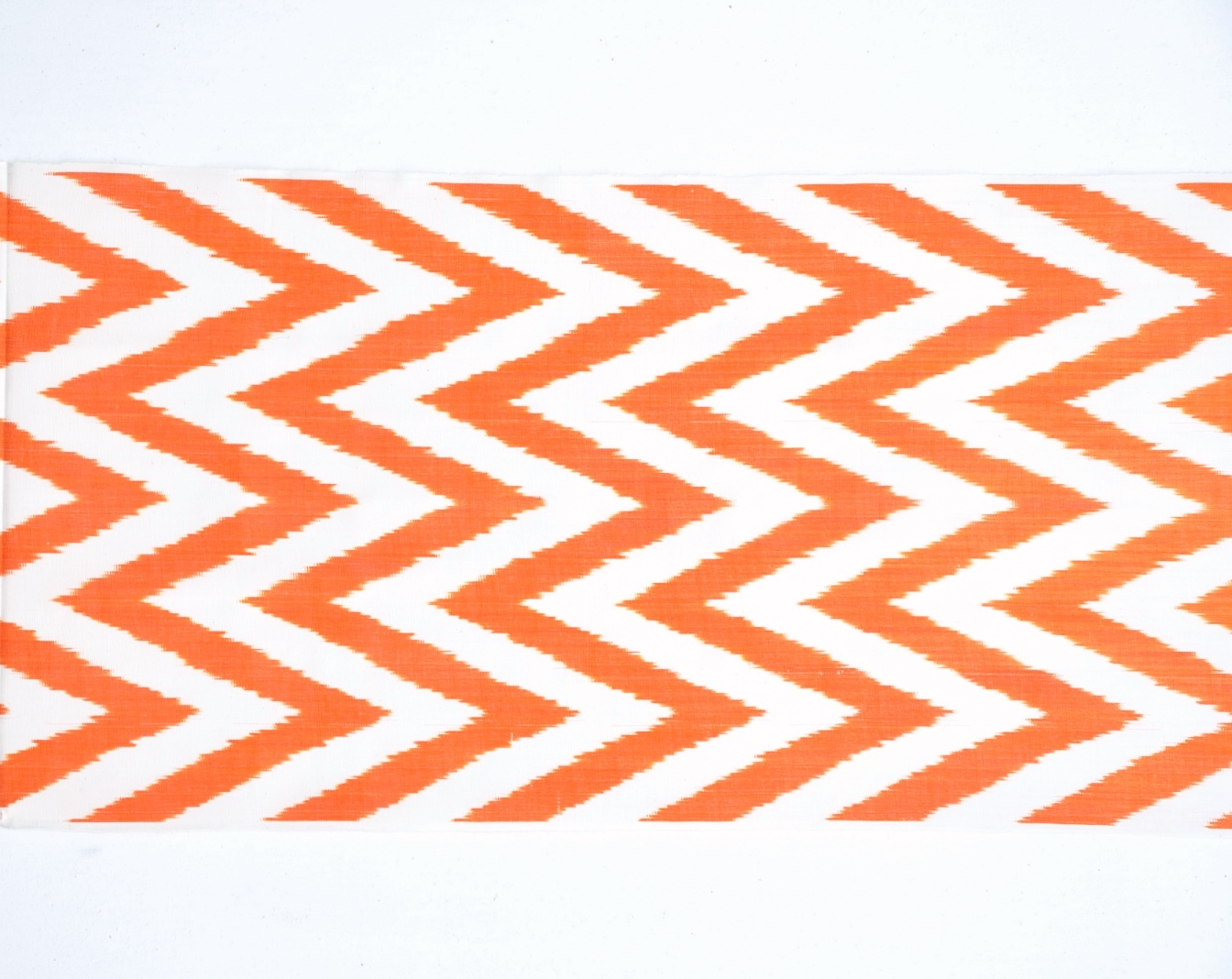 Quot Orange Chevron Quot Silk Ikat Fabric Alesouk Grand Bazaar