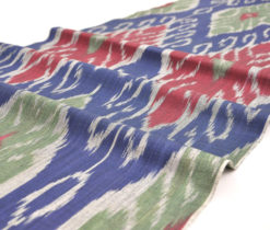 blue cotton ikat fabrics