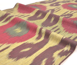 "Cotton Ikat Fabric "" Olive Drab"""