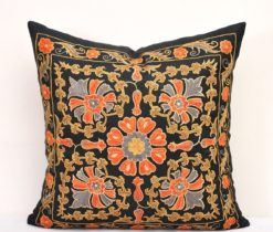 Suzani pillows, Denim Suzani Pillow Cover