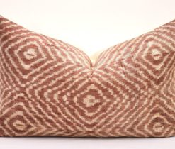 Uzbek velvet ikat pillow, Brown Home Decor Accent Velvet Pillow