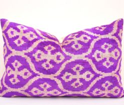 Home Decor Accent Velvet Lumbar Pillow , orchid pillow ikat, Home Decor Accent Velvet Lumbar Pillow