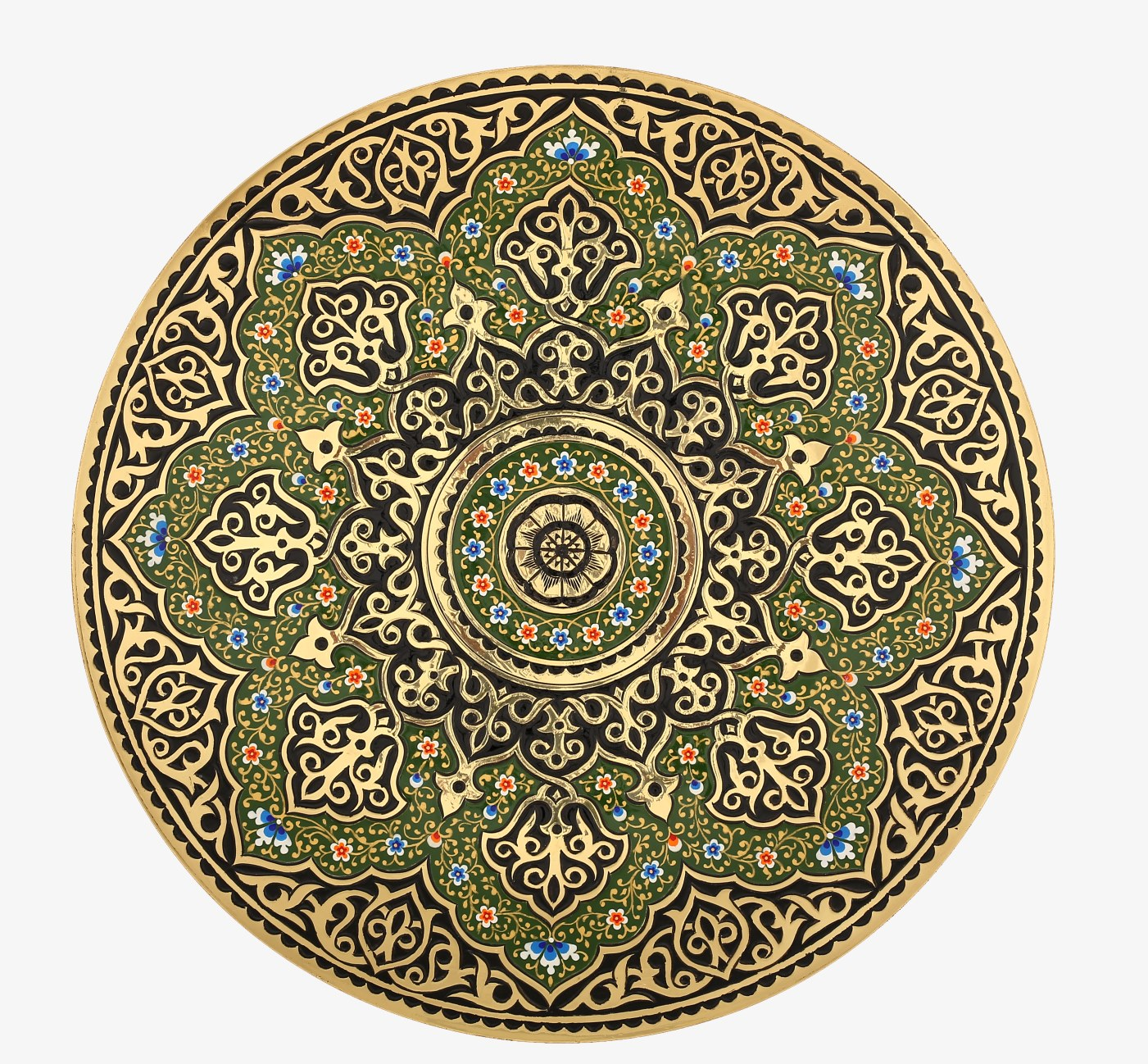 Moroccan Brass Tea Tray Alesouk Grand Bazaar