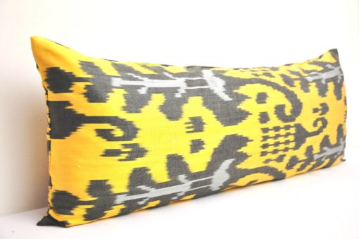 bolster yellow pillow