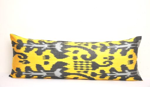 Yellow Bolster Ikat Pillow Cover