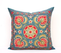 Blue suzani pillow