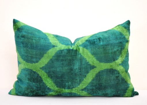 Springtime Green Ikat Pillowcase