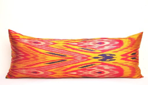 Orange Silk Bolster Case