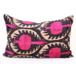 Decorative Silk Velvet Ikat Pillow