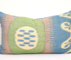 Lumbar Lime Ikat Pillow