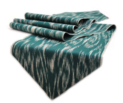dark green table runner
