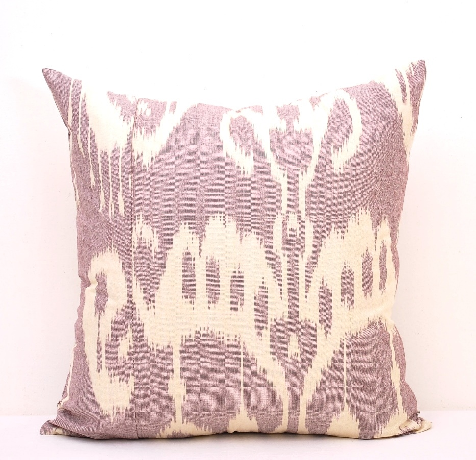 Nostalgic Ikat Pillow Cover - Organic Cotton Pillowcase