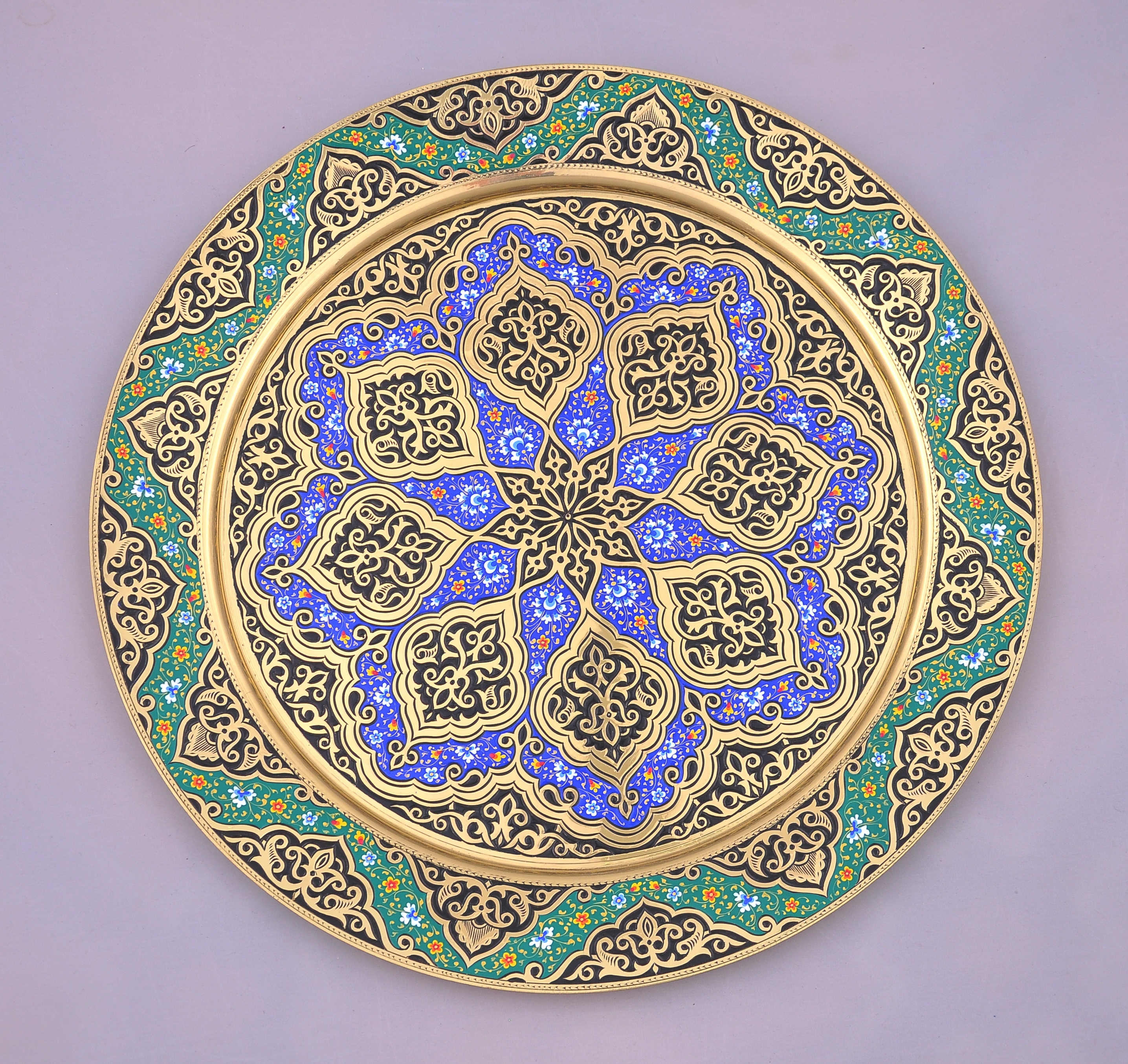 Persian Brass Carved Tray Alesouk Grand Bazaar Online