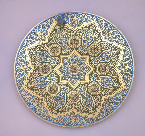 Islamic Antique Brass Tray