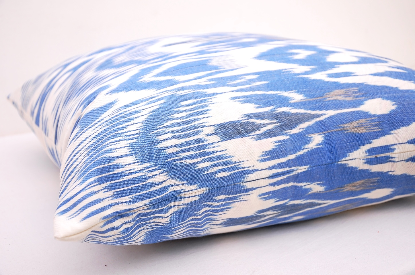 Blue Designer Ikat Throw Pillow Cover Blue Decorative
