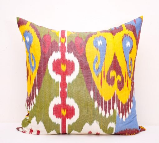 multicolored designer silk cushion cover