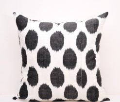 Black Ikat Polka Dot Throw Pillowcase