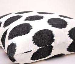 """Polka Dot"" silk cotton pillow"