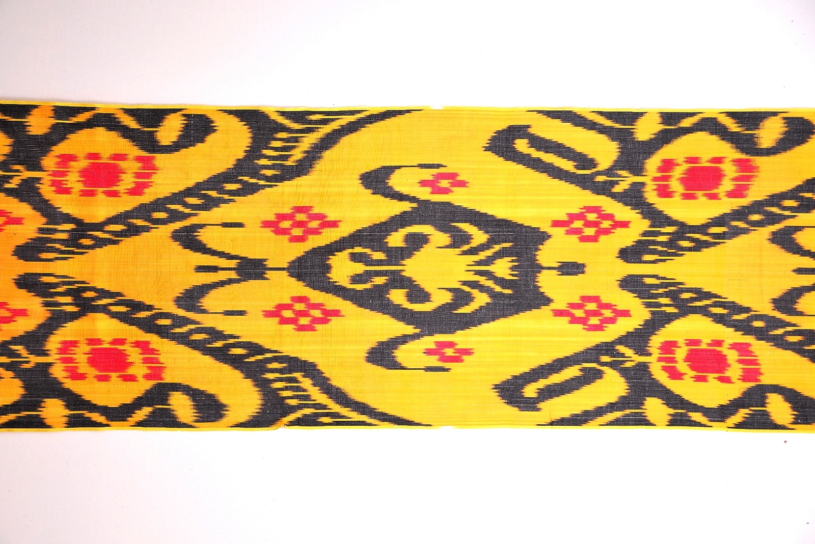 Yellow Ikat Fabric By The Yard Alesouk Grand Bazaar