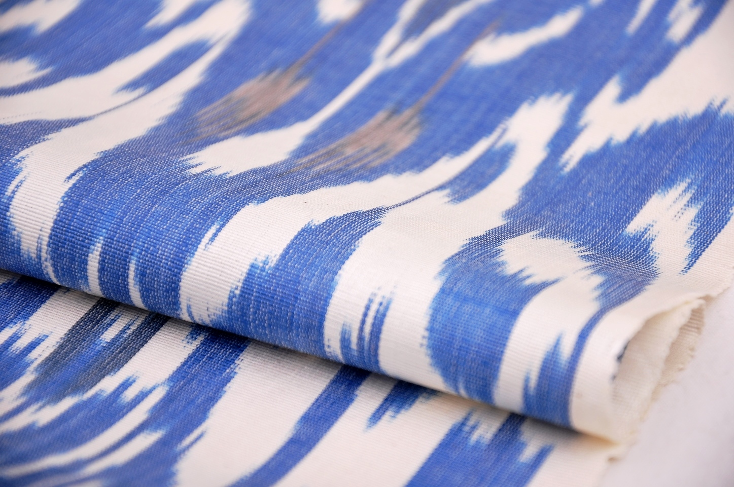 Beautiful Blue Upholstery Silk Fabric Alesouk Grand Bazaar