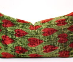 velvet ikat cushion, Silk ikat velvet cushion
