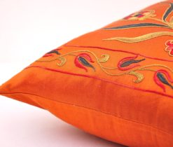 orange pillow suzani
