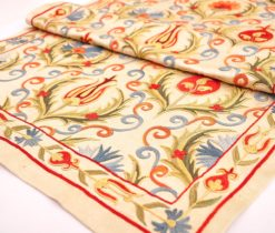 silk suzani embroidery