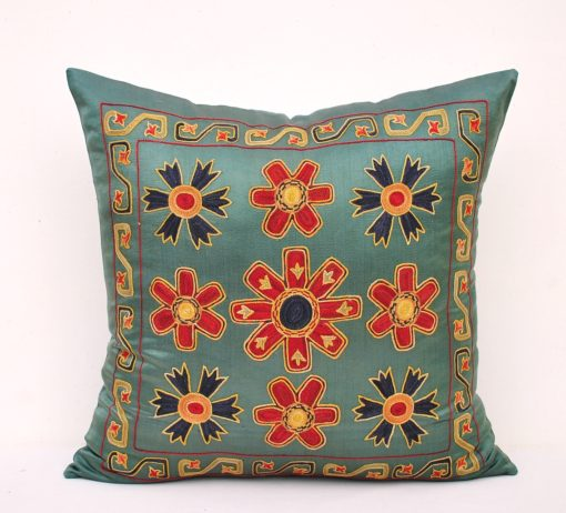 Hand Embroidered Ethnic Suzani Pillow