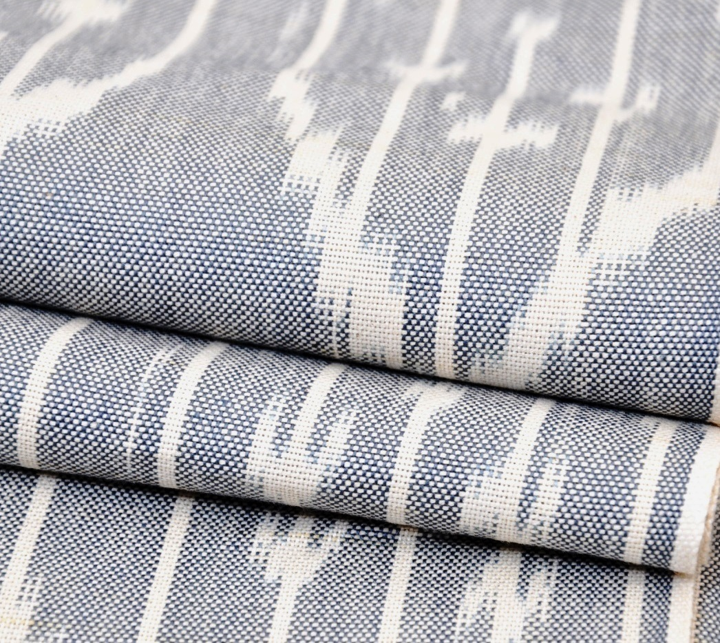 Grey Cotton Ikat Fabric By The Yard Alesouk Grand Bazaar