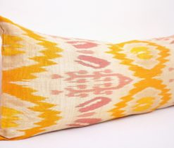 Home Interior Accent Ikat Lumbar Pillow, lumber yellow pillow ikat
