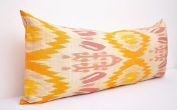 lumber yellow pillow ikat