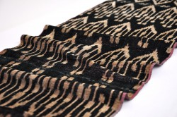 black velvet ikat fabric