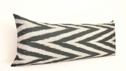 ikat chevron black pillow