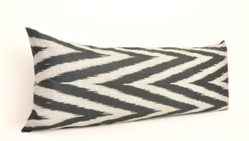 Black Chevron Sofa Bolster Pillowcase
