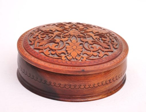 Handcarved Jewelry Wooden Box
