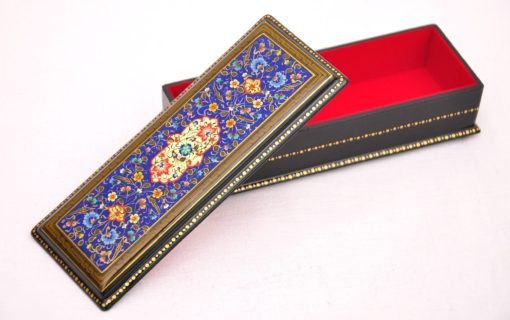 Unique Islimi Hand Painted Box, LACQUERED MINIATURE uzbek