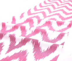 Zigzag Design Cotton Ikat Fabric