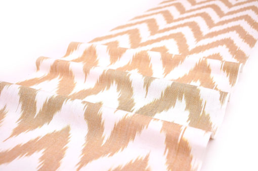 Chevron Designer Cotton Ikat Fabric