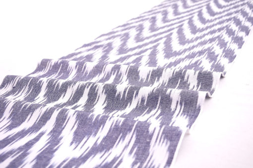 Grey Printed Cotton Fabric By The Yard