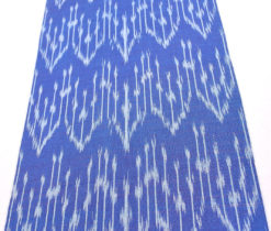 blue cotton decor fabric