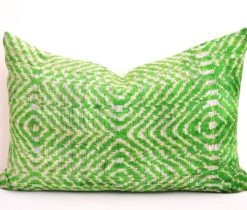velvet cushion pillow, Green designer velvet cushion