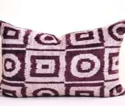 velvet cushion, Grey brown designer velvet pillow