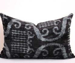 Black Velvet Chair Cushion