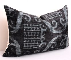 Black luxury velvet designer throw