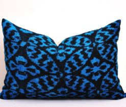 euro pillows, Blue Rose Velvet Euro Pillow