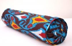 bolster ikat pillow round