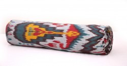 round bolster ikat pillow