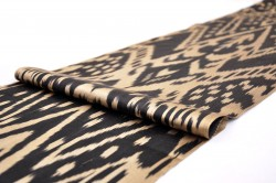 Black ikat fabric by the yard